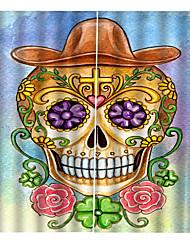 Недорогие -3d печать партия хэллоуин тема характерный череп фон шторы утолщение затемнения пользовательские шторы для дома decro