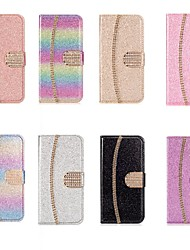 cheap -Case For Samsung Galaxy A51 / M40S /A71 Wallet / Shockproof chain Diamond Glitter PU Leather Case For Samsung S20 Plus / S20 Ultra/A20e/A50s/A30s/A10/A60/A70/A80/S10 Lite/S10 5G/S10 Plus/Note 10 Plus