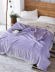 cheap -Bed Blankets, Solid Colored / Simple Polyester Soft Comfy Blankets
