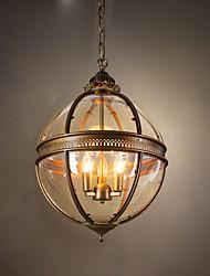 Недорогие -Ecolight™ 3-Light 45 cm Подвесные лампы Металл Стекло Шары Анодирование Деревенский стиль 110-120Вольт / 220-240Вольт