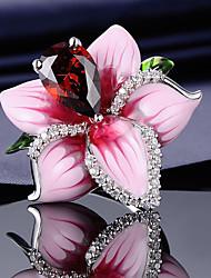 cheap -Ring Vintage Style Pink Imitation Diamond Alloy Flower Elegant Korean Fashion 1pc 7 8 9 / Women's