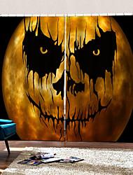 abordables -creative uv digtal impression rideaux effrayé parti halloween thème fond rideaux épaississement blackout rod set rideau pour la maison decro