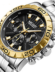 cheap -Megir watch men's fashion atmosphere multi-functional business watch steel band quartz watch 2087