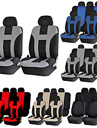 cheap -9pcs Universal Classic Car Seat Cover Airbag compatible Fit Most Car, Truck, SUV, or Van 100% Breathable Car Fashion Style Seat Cover