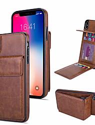 Недорогие -роскошный кожаный чехол для iphone xs max xr xs x несколько держателей для карт для телефона iphone 8 плюс 8 7 плюс 7 6 плюс 6 с подставкой для магнитного чехла