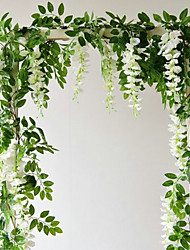 abordables -Cordages / fleurs artificielles de wisteria de 71 pouces (2)
