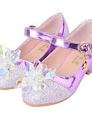 cheap -Girls' Heels Flower Girl Shoes Princess Shoes Halloween PU Little Kids(4-7ys) Purple Pink Summer