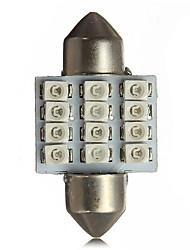 cheap -2 x 31mm 12SMD 3528 LED Map Interior Dome Festoon Light Bulbs