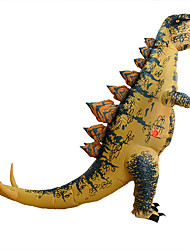 cheap -Dragon Dinosaur T-Rex Cosplay Costume Inflatable Costume Adults' Men's Halloween Halloween Festival / Holiday Rayon / Polyester Yellow Men's Women's Carnival Costumes / Leotard / Onesie / Air Blower