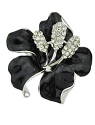 cheap -Women's Brooches Flower Stylish Unique Design Sweet Brooch Jewelry Black Gold / Pink White For Daily Work Festival