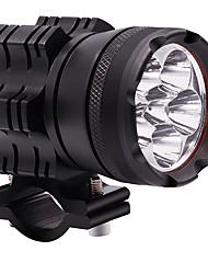 Недорогие -2шт 60 Вт мотоцикл лампа 12 В постоянный свет водонепроницаемый шесть шарик из светодиодов фар