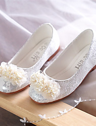 cheap -Girls' Comfort / Flower Girl Shoes Lace Flats Toddler(9m-4ys) / Little Kids(4-7ys) Walking Shoes Flower White / Pink Spring / Fall / Party & Evening / TPR (Thermoplastic Rubber)