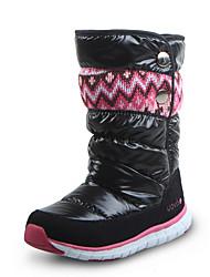cheap -Girls' Snow Boots Cowhide Boots Big Kids(7years +) Black / Purple / Fuchsia Winter / Mid-Calf Boots