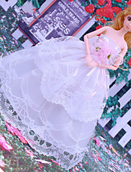 cheap -Doll Dress Wedding For Barbiedoll Lace Organza Dress For Girl's Doll Toy / Kids