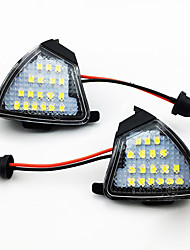 cheap -2pcs/set LED Under Side Mirror Light Puddle Lamp for VW Jetta Golf 5 etc