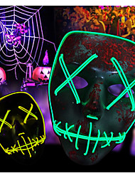 cheap -BRELONG Scary Mask LED Light up Mask Cosplay Glowing Party Masque Masquerade Mask Costume 3 Lighting Modes for Men Women Kid
