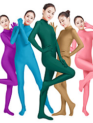 cheap -Zentai Suits Catsuit Skin Suit Adults' Lycra® Cosplay Costumes Fashion Sex Men's Women's Purple / Orange / Yellow Solid Colored Fashion Halloween Carnival Masquerade / High Elasticity