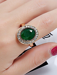cheap -Ring Vintage Style Green Glass Alloy Luxury Classic Vintage 1pc 9 / Women's