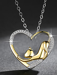 cheap -Women's Pendant Necklace Cat Fashion Elegant Chrome Gold 45 cm Necklace Jewelry 1pc For Daily