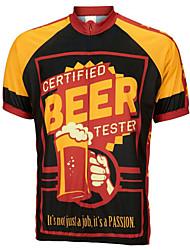 abordables -21Grams Homme Manches Courtes Maillot Velo Cyclisme Noir / jaune. Rétro Nouveauté Bière Oktoberfest Cyclisme Maillot Hauts / Top VTT Vélo tout terrain Vélo Route Respirable Evacuation de l'humidit