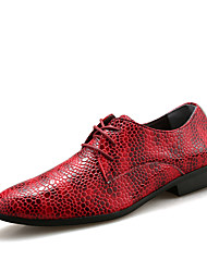 cheap -Men's Formal Shoes PU Spring / Fall Casual / British Oxfords Red / Blue / Brown / Party & Evening / Party & Evening / Dress Shoes