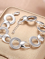cheap -Women's Chain Bracelet Hollow Out Weave Stylish Silver Plated Bracelet Jewelry Silver For Daily Work