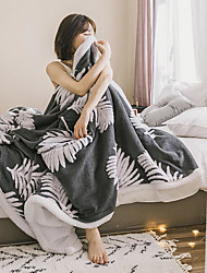 cheap -Bed Blankets / Sofa Throw / Multifunctional Blankets, Floral Botanical Polyester / Fleece Soft Comfy Blankets