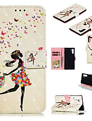 cheap -Case For Samsung Galaxy Note 9 / Galaxy Note 10 / Galaxy Note 10 Plus Wallet / Card Holder / Shockproof Full Body Cases Butterfly / Sexy Lady / Animal PU Leather