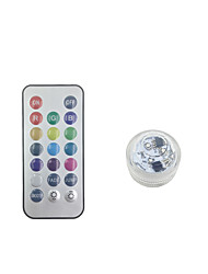 cheap -Decoration Light / LED Night Light / 3D Nightlight Remote Controlled / Color-Changing / Creative Button Battery Powered 1pc