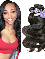 cheap -3 Bundles Indian Hair Body Wave Remy Human Hair 100% Remy Hair Weave Bundles Natural Color Hair Weaves / Hair Bulk Extension Bundle Hair 8-28 inch Natural Human Hair Weaves Party Women Easy dressing