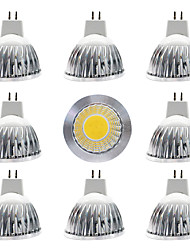 cheap -9pcs 12 W LED Spotlight 300 lm MR16 MR16 1 LED Beads COB Dimmable Warm White White 12 V