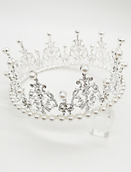 cheap -Crystal / Plated Silver / Alloy Tiaras with Crystal / Crystals / Rhinestones 1 Piece Wedding / Special Occasion Headpiece