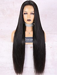 cheap -Premierwigs 360 Lace Wig Brazilian Remy Human Hair 30 Inch 180% Density Long Silky Straight Bleached Knots Preplucked Knots With Baby Hair