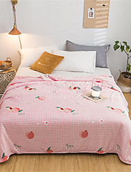 cheap -Bed Blankets, Floral / Print Polyester Comfy Blankets