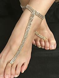 cheap -Ankle Bracelet Women's Body Jewelry For Gift Carnival Alloy Gold Silver