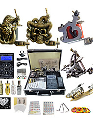 cheap -BaseKey Professional Tattoo Kit Tattoo Machine - 5 pcs Tattoo Machines, Professional Aluminum Alloy 20 W 1 rotary machine liner & shader / 2 carved machine liner & shader / 2 alloy machine liner
