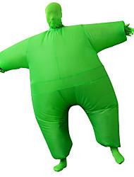 abordables -Lutteur Costume de Cosplay Costume Gonflable Adulte Homme Halloween Halloween Fête / Célébration Rayon / polyester Vert Homme Femme Déguisement Carnaval / Collant / Combinaison / Manuel D'Utilisation