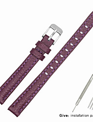 cheap -Genuine Leather / Leather / Calf Hair Watch Band Purple Other / 17cm / 6.69 Inches / 19cm / 7.48 Inches 1cm / 0.39 Inches