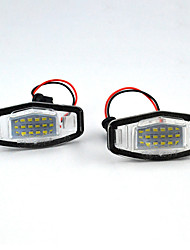 cheap -2Pcs/Set LED Number License Plate Lights for Honda Accord Civic City Odyssey MR-V/Pilot