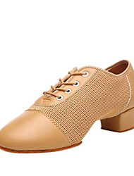cheap -Women's Dance Shoes Synthetics Jazz Shoes Sneaker Thick Heel Customizable Black / Camel / Performance / Practice