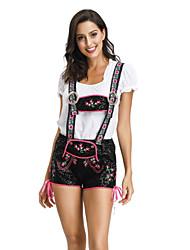 cheap -Carnival Oktoberfest Beer Dirndl Trachtenkleider Women's Top Dress Pants Bavarian Costume Black / Hat / Hat