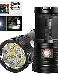cheap -XM8 LED Flashlights / Torch Waterproof 6400 lm LED LED 8 Emitters Manual 3 Mode with USB Cable Waterproof Professional Anti-Shock Easy Carrying Durable Camping / Hiking / Caving Police / Military