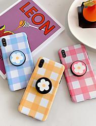 Недорогие -чехол для яблока iphone xs max / iphone 8 plus пылезащитный / с подставкой / imd задняя крышка однотонный / цветок мягкий тпу для iphone 7/7 plus / 8/6/6 plus / xr / x / xs