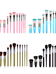 cheap -Professional Makeup Brushes 11pcs Soft New Design Full Coverage Lovely Comfy Plastic for Makeup Set Makeup Tools Makeup Brushes Blush Brush Foundation Brush Makeup Brush Lip Brush Eyeshadow Brush