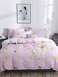cheap -Duvet Cover Sets Floral / Botanical / Lines / Waves Cotton Reactive Print / Printed 4 PieceBedding Sets