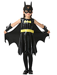 cheap -Super Heroes Dress Outfits Halloween Props Masquerade Kid's Girls' Halloween Halloween Festival / Holiday Spandex Polyester / Polyamide Black Carnival Costumes