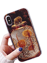 cheap -Case for Apple iPhoneX / iPhoneXS / iPhoneXR / iPhone 8 Plus / iPhone 8 Transparent / Dust / Waterproof White Bear Brown Bear Flash Liquid Solid Color Soft TPU for iPhone 6 / iPhone 6 Plus / iPhone 6s
