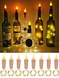 Недорогие -пламя loende в форме пробки 10 упаковок светлячков для поделок для бутылок для вина
