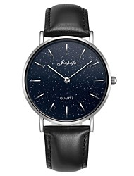 Недорогие -Для пары Спортивные часы Японский Японский кварц Стильные Натуральная кожа Черный 30 m Защита от влаги Повседневные часы Аналоговый Мода Часы с текстом -