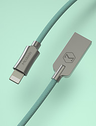 cheap -Lightning Cable 1.2m(4Ft) Braided Zinc Alloy / Nylon USB Cable Adapter For iPad / iPhone